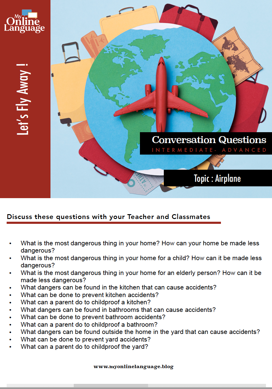 e.s.l conversation question about airplane