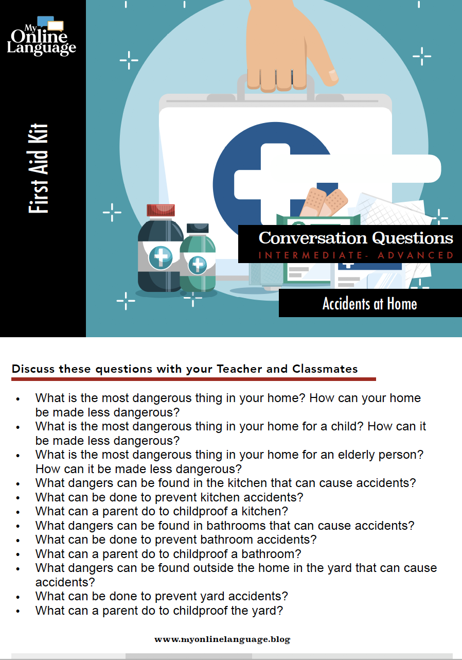 e.s.l conversation question about accidents at home